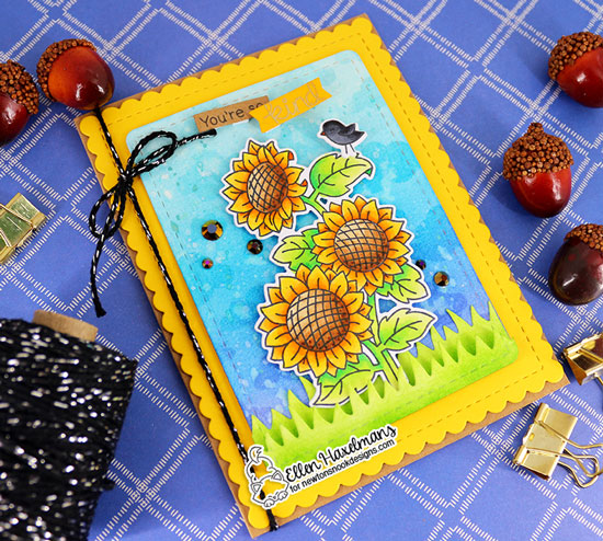 Sunflower Card by Ellen Haxelmans | Sunflower Days Stamp Set by Newton's Nook Designs #newtonsnook #handmade