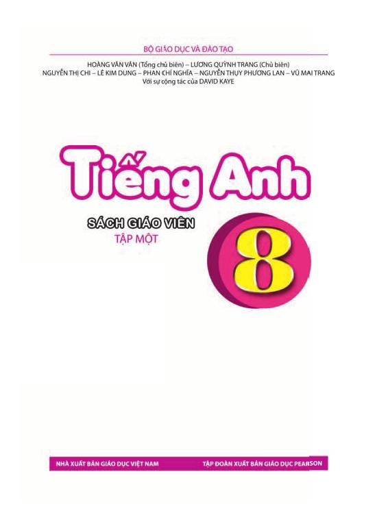 Sách Giáo Viên Tiếng Anh 8 Tập 1