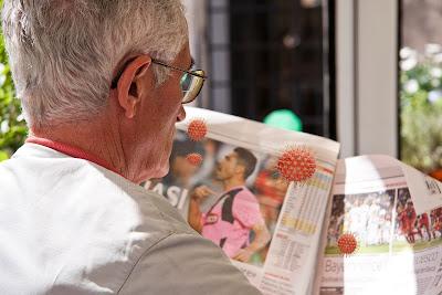 corona virus at newspaper
