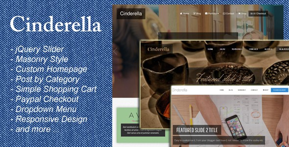 Cinderella is a Premium Blogger Template with a Responsive layout. It is suited for business and personal blogs.