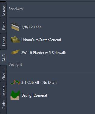 AUGI settings in Autodesk Civil 3D