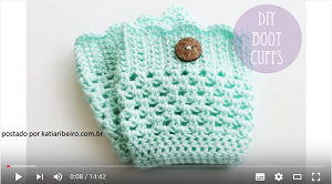 boot cuffs mini polaina croche facil