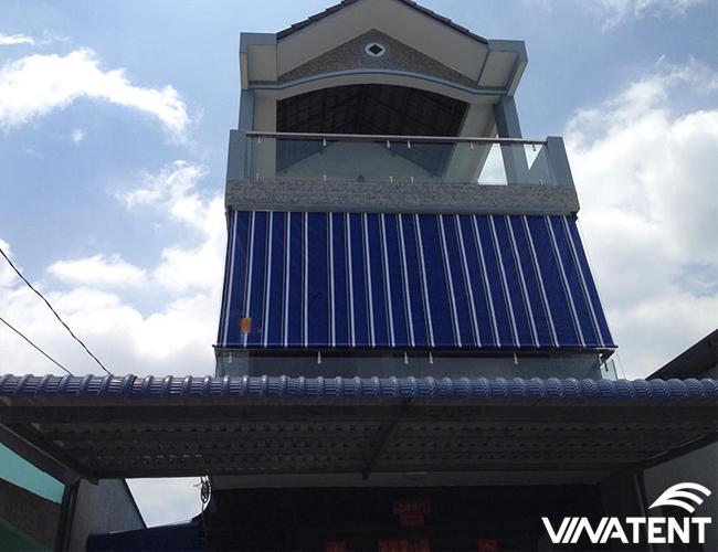 bạt che nắng ban công cho nhà tầng