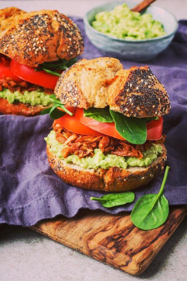 Recipe vegan jackfruit burgers