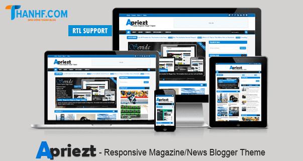 Apriezt - Responsive Magazine News Blogger Template
