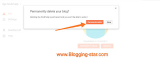 how to delete blogger account