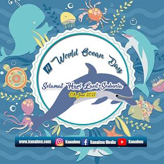 poster ucapan  selamat hari laut sedunia psd- kanalmu
