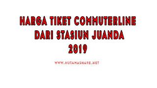 Harga Tiket Commuterline Dari Stasiun Juanda Terbaru 2019
