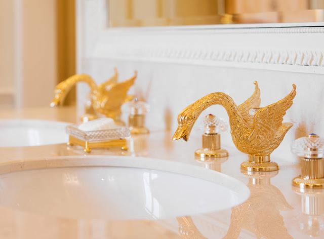 Gilded swan fixtures Ritz Paris