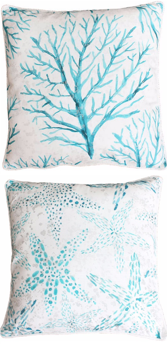 Blue Watercolor Pillows