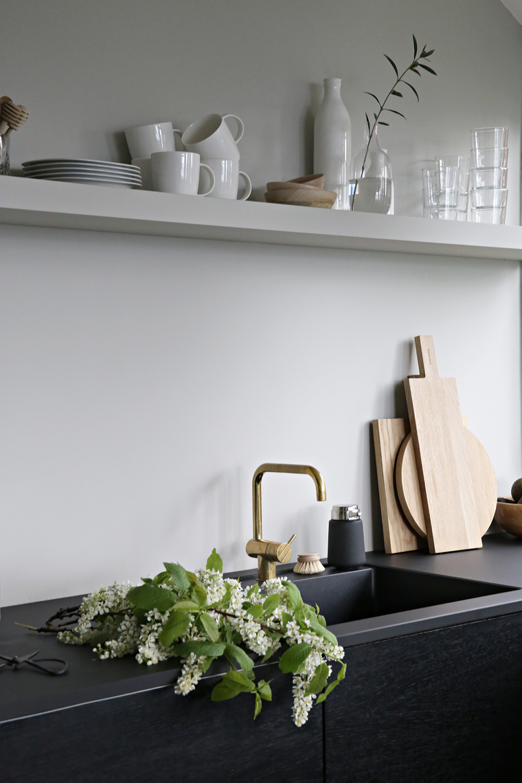 ilaria fatone _ shelf in minimal kitchen _ shelf painted as wall