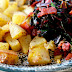 Swiss Chard with Bacon and Roasted Potatoes