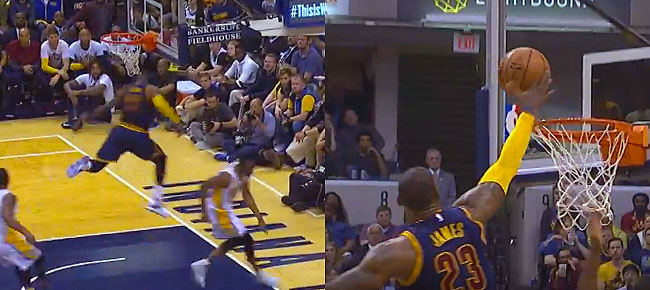 LeBron James With The NASTY Chasedown Block In Indiana (VIDEO)