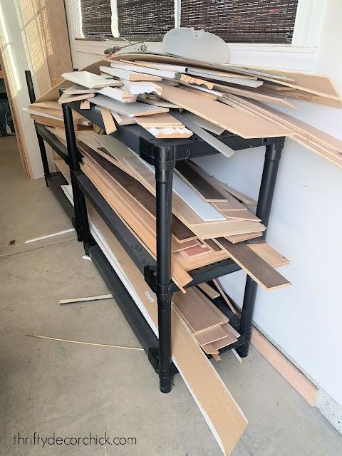 wood scrap holder