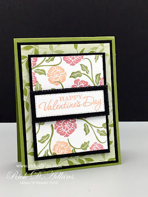 How to make a Valentine's Day Card using the Paper Blooms Designer Series Paper and Heart to Heart Stamp Set.  Click here to learn more!