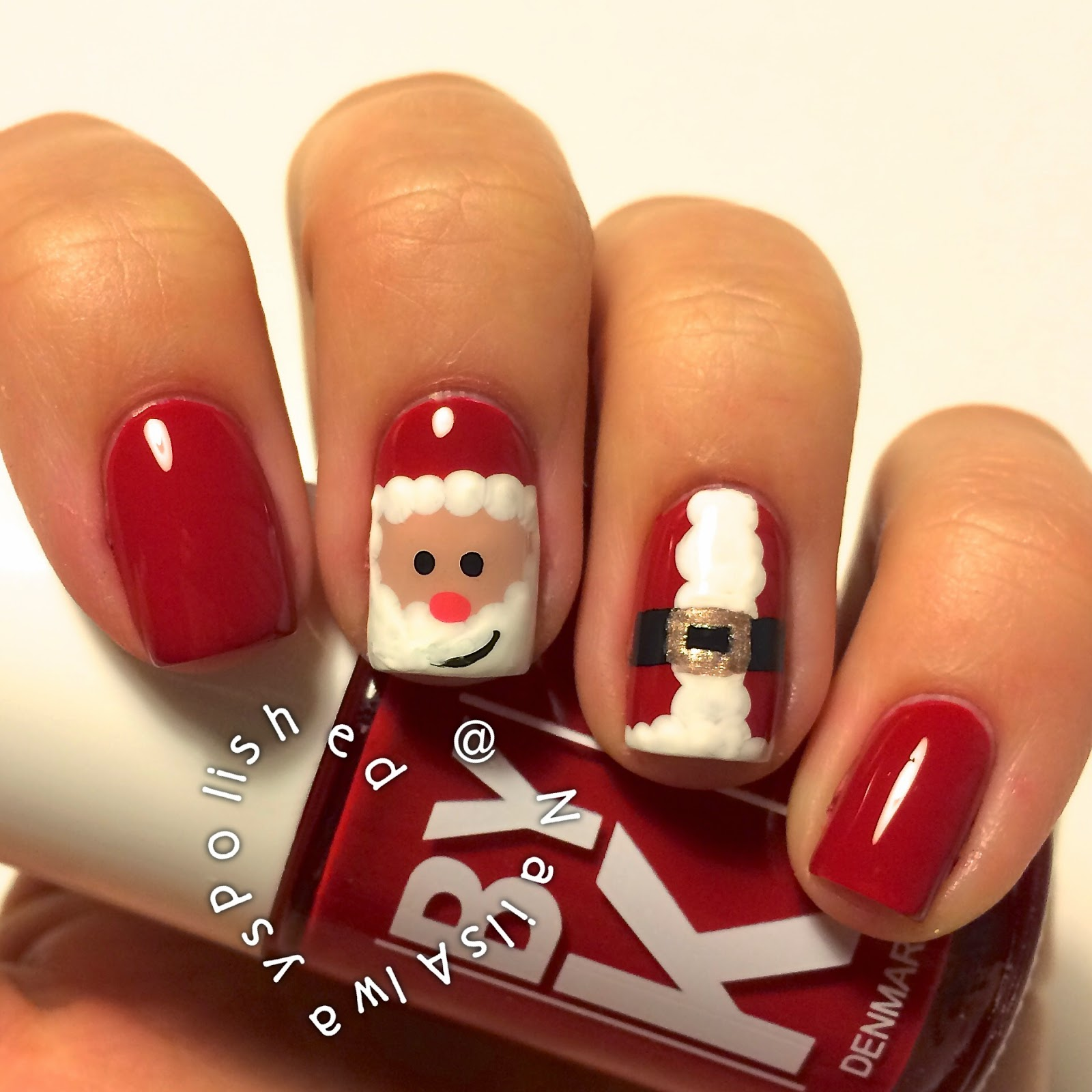 Santa Claus Nail Art: Nails Always Polished: Santa Claus