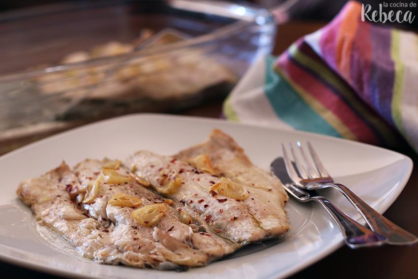 La Cocina De Rebeca Lubina A La Espalda