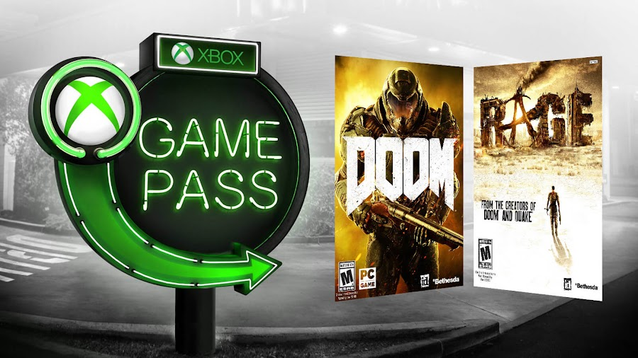 xbox game pass doom rage 2018