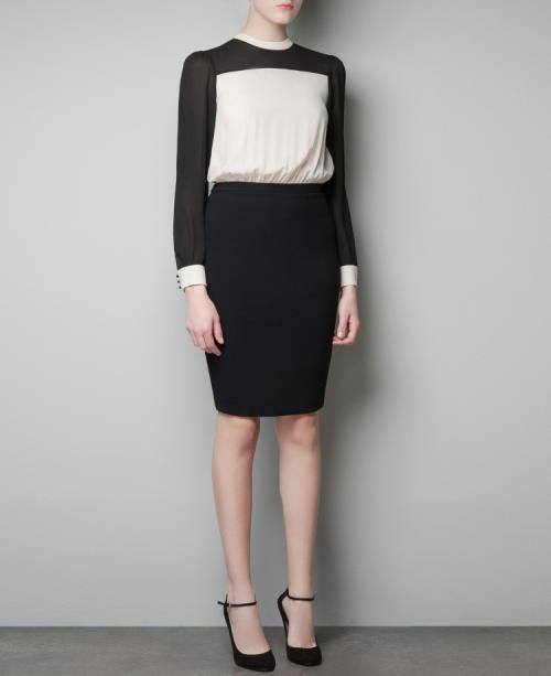 c67eb2df 2013 New sara office style dress. S : bust 84 shoulder 35 sleeve 60 length  90. M : bust 88 shoulder 36 sleeve 61 length 92
