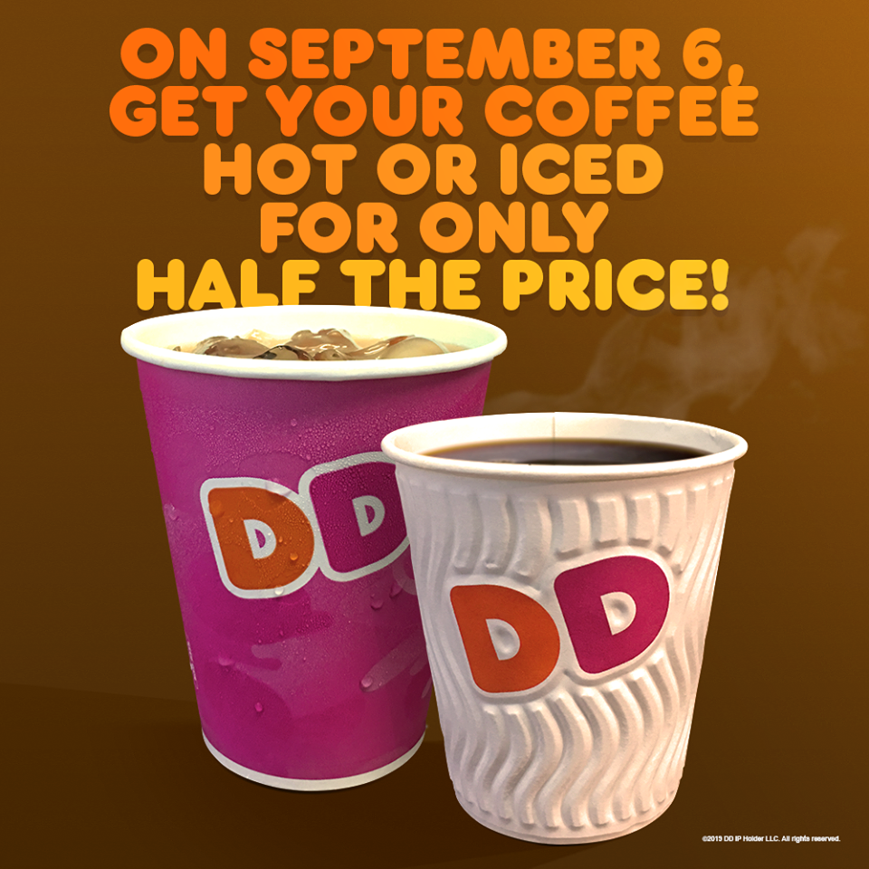 Manila Shopper Dunkin Donuts Coffee Day Promo Sept 6 2019