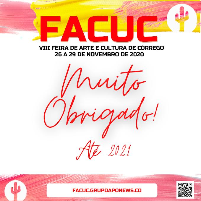 Equipe FACUC 2020 agradeçe