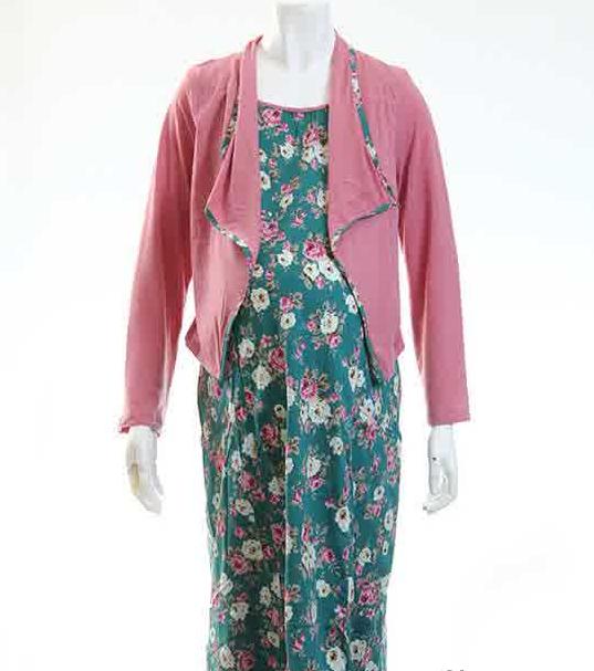 Contoh Model Baju Muslim Batik Gamis Modern Modis