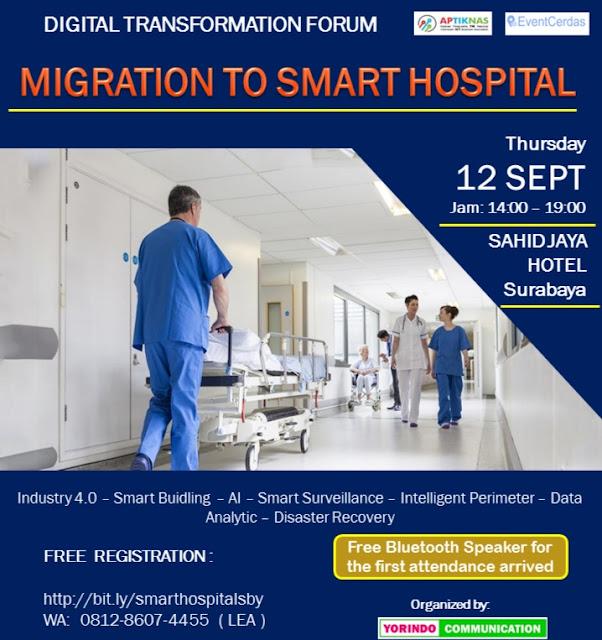 Temukan kami di Seminar Migrasi ke Smart Hospital Surabaya 12 Sep 2019