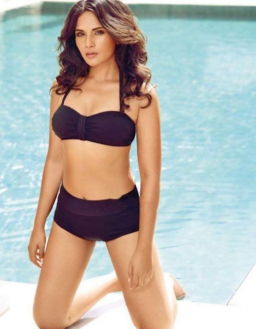 Bollywood Actress Richa Chadda Latest Bikini Photo Shoot Pics Navel Queens