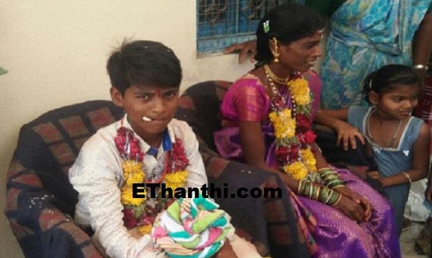13 வயது சிறுவனை  திருமணம் செய்த 23 வயது பெண்