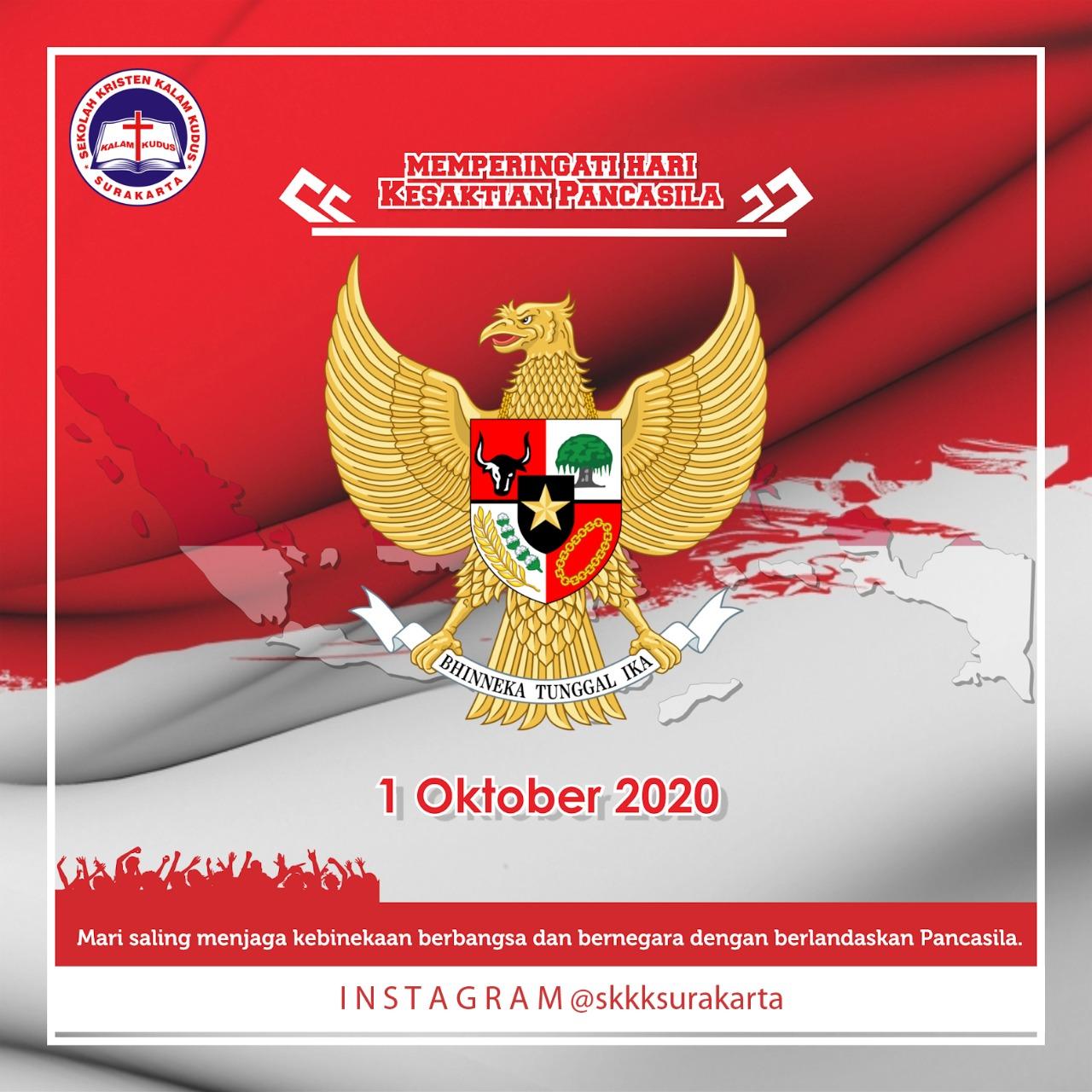 Selamat Hari Kesaktian Pancasila 1 Oktober 2020