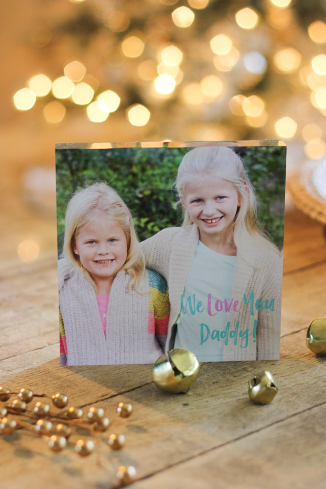 Acrylic photo blocks from Mixbook