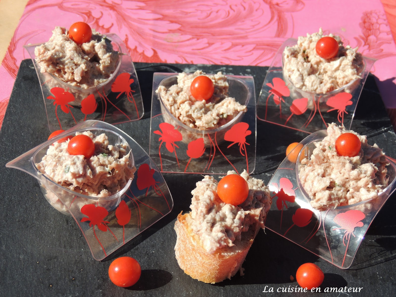 la cuisine en amateur de maryline rillettes de thon et jambon. Black Bedroom Furniture Sets. Home Design Ideas