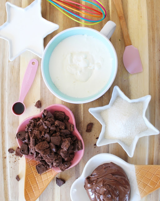 Helado de Nutella con Cookies