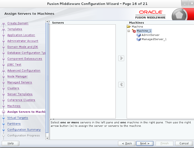 Weblogic domain creation step 16B