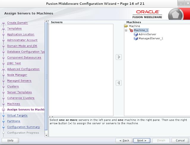 Weblogic domain creation step 16B