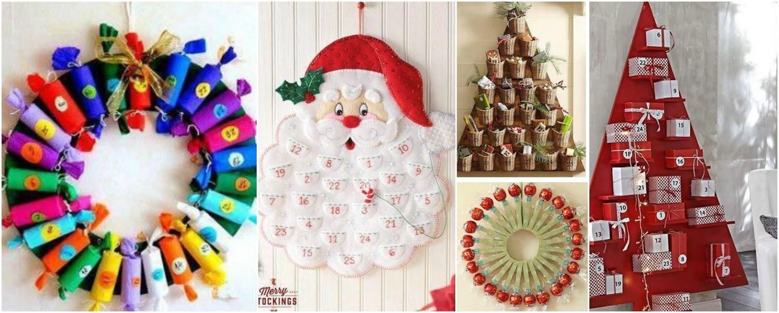 8 Hermosos calendarios de adviento para hacer en navidad Mimundomanual