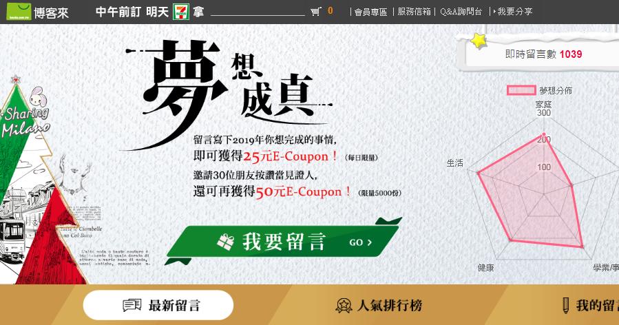 博客來2018/10/24~12/31留言許願送25元E-Coupon! @ 符碼記憶
