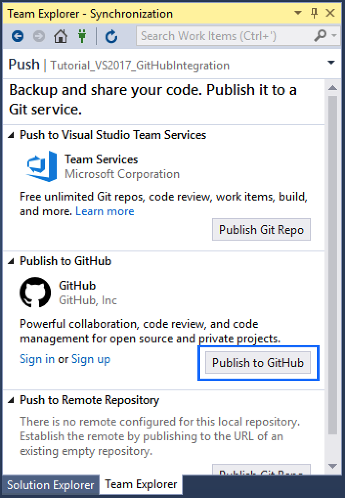 Integrating GitHub on Visual Studio 2017 : Your First Repo