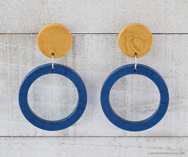 Modern Clay Hoop Earrings