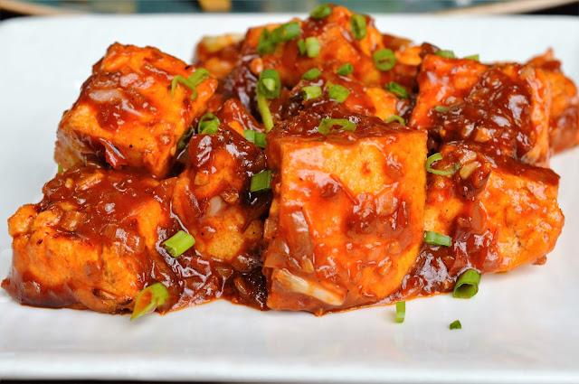 Tofu in chilli sambal