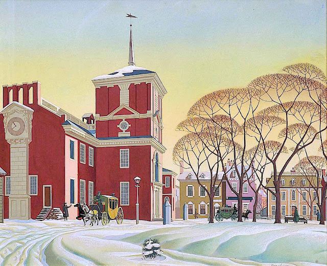 a James R. Bingham illustration of a winter scene