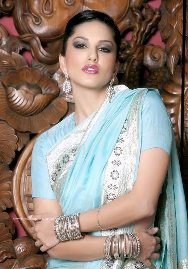 Sunny Leone Hot Wallpaper With Saree-9559