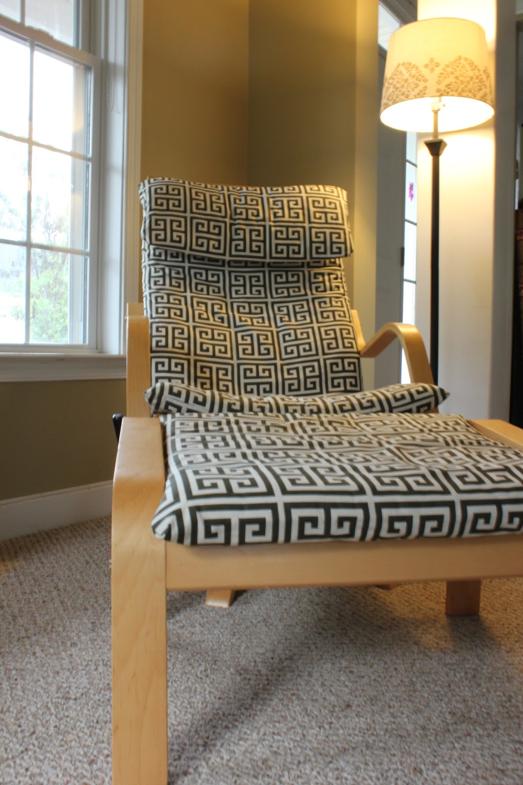 IKEA chair hack with some nice cushion