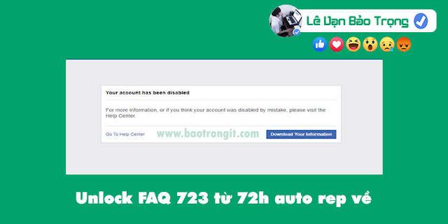 Unlock FAQ 723 từ 72h mới nhất 2020