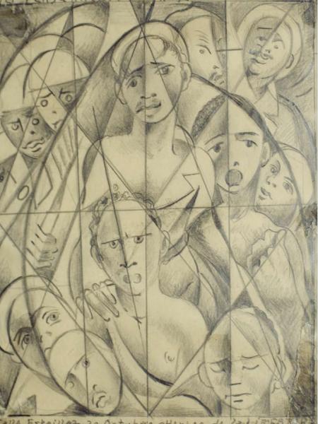 Dibujo: Primer Pensamiento N.- 7, 1962