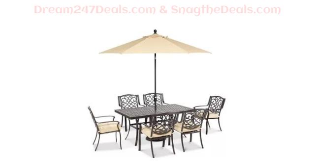 Outdoor Cast Aluminum 7-Pc. Dining Set  Sale $999.00