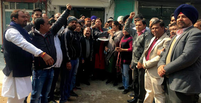 Legislative border triumph over BJP's victory in Jind, celebrated in Barkhal, shared Laddu