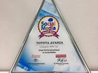 Toyota Avanza Raih Social Media Award 2016