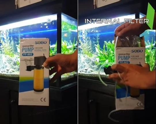How to unbox a powerhead internal filter?