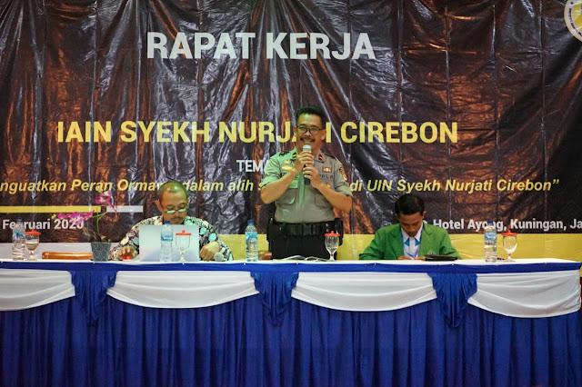 Sat Binmas Polres Cirebon Kota Menjadi Narasumber Rapat Kerja Senat Mahasiswa IAIN Syeh Nurjati